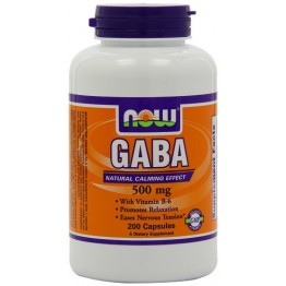 Gaba 500mg Now 100 capsulas
