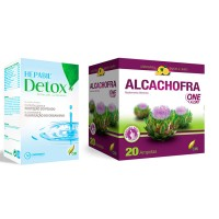 Alcachofra One a Day 20 Ampolas + Hepabil Detox 60 Comprimidos