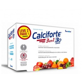 Calciforte 3 em 1 30+30 Cápsulas