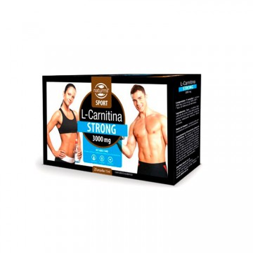 L-Carnitina Strong 3000mg 20 Ampolas