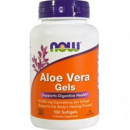 Now Aloe Vera Gels 100 Cápsulas