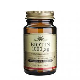 Solgar Biotina 1000mcg 50 Cápsula