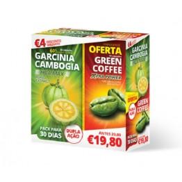 Garcinia Cambogia + Green Coffe 30 + 30 Cápsulas
